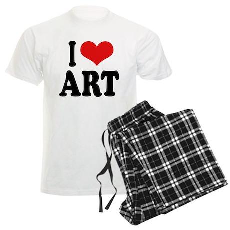 I Love Art Men's Light Pajamas