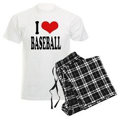 I Love Baseball (word) Pajamas