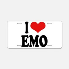 I Love Emo Aluminum License Plate