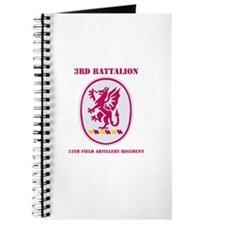 DUI - 3rd Bn - 13th FA Regt with Text Journal