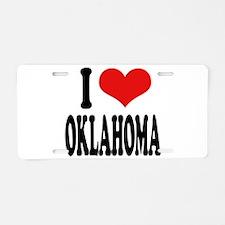 I Love Oklahoma Aluminum License Plate