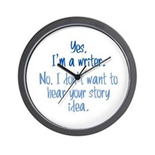 Writers and Story Ideas Wall Clock