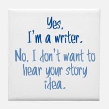 Writers and Story Ideas Tile Coaster