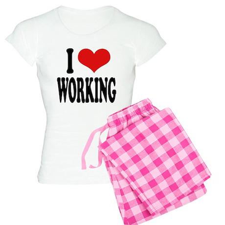 I Love Working Women's Light Pajamas