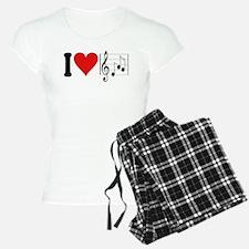 I Love Music (design) Pajamas