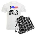 I Love John Edwards Men's Light Pajamas