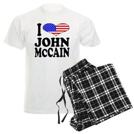 I Love John McCain Men's Light Pajamas
