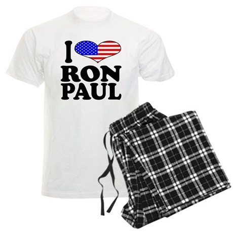 I Love Ron Paul Men's Light Pajamas