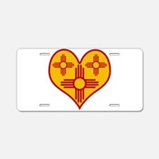 New Mexico Zia Heart Aluminum License Plate