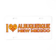 I Love Albuquerque, NM Aluminum License Plate