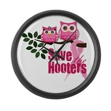 Save the Hooters Large Wall Clock