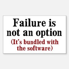 Software Failure Decal