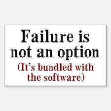 Software Failure Sticker (Rectangle)