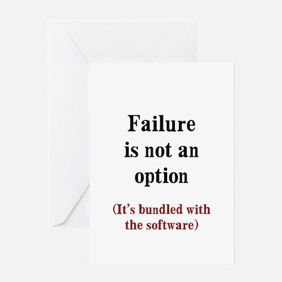 Software Failure Greeting Card