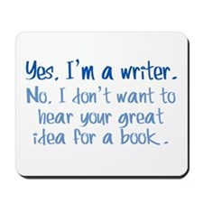 Writers and Book Ideas Mousepad