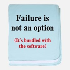 Software Failure baby blanket
