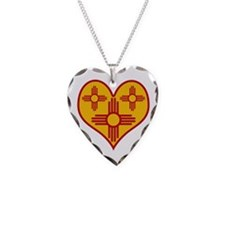 New Mexico Zia Heart Necklace