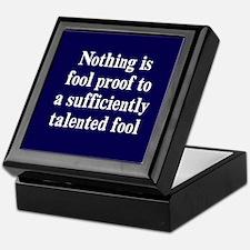 Talented Fools Keepsake Box