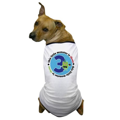This Monster is 3 Dog T-Shirt