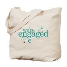Engagement We're Engaged Tote Bag