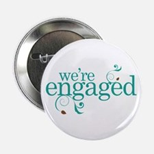 "Engagement We're Engaged 2.25"" Button"