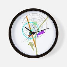 Bike Flower Wall Clock
