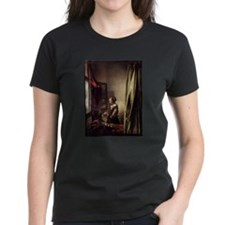 Girl Reading a Letter at an O Tee