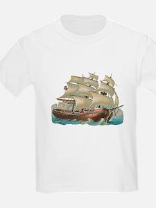 Vintage Ship Kids T-Shirt