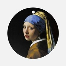 Girl with a Pearl Earring Ornament (Round)