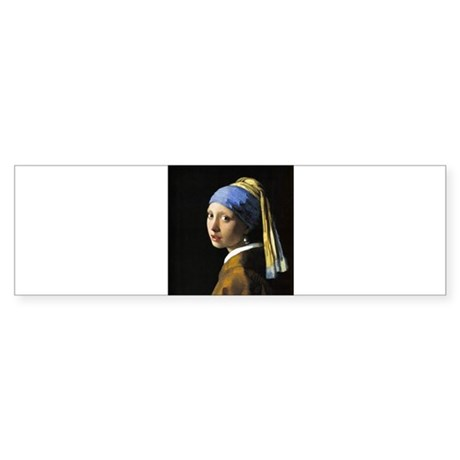 Girl with a Pearl Earring Sticker (Bumper)