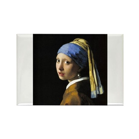Girl with a Pearl Earring Rectangle Magnet (10 pac