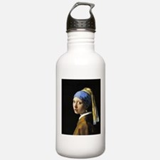 Girl with a Pearl Earring Sports Water Bottle