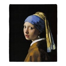 Girl with a Pearl Earring Throw Blanket
