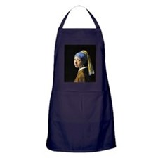 Girl with a Pearl Earring Apron (dark)