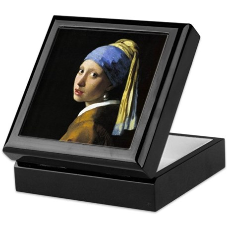 Girl with a Pearl Earring Keepsake Box