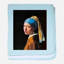 Girl with a Pearl Earring baby blanket