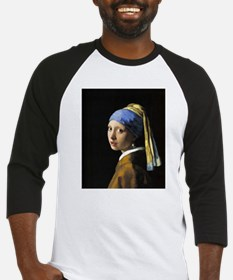 Girl with a Pearl Earring Baseball Jersey