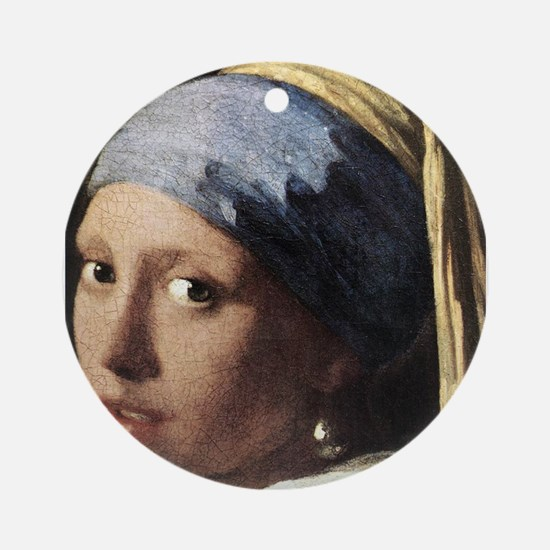 Girl with a Pearl Earring (de Ornament (Round)