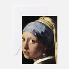 Girl with a Pearl Earring (de Greeting Card