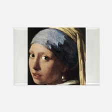 Girl with a Pearl Earring (de Rectangle Magnet
