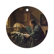 The Astronomer Ornament (Round)