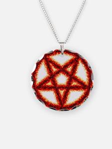 Red Fire Pentagram Necklace