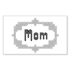 """Celtic Knots Mom"" Rectangle Decal"