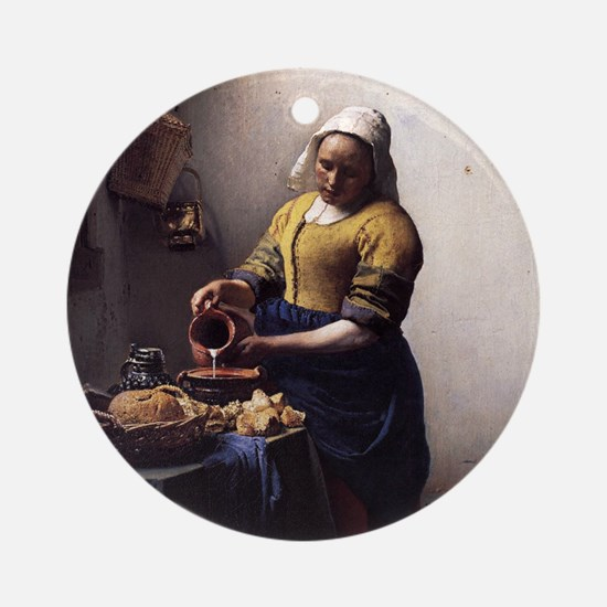 The Milkmaid Ornament (Round)
