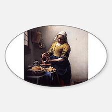 The Milkmaid Sticker (Oval)