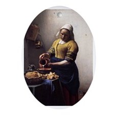 The Milkmaid Ornament (Oval)
