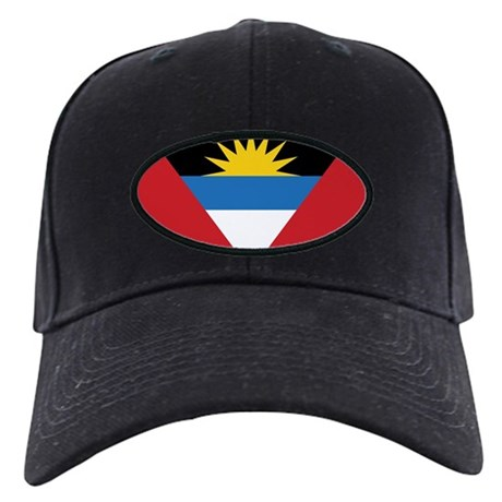 Antigua Flag Black Cap