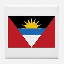 Antigua Flag Tile Coaster