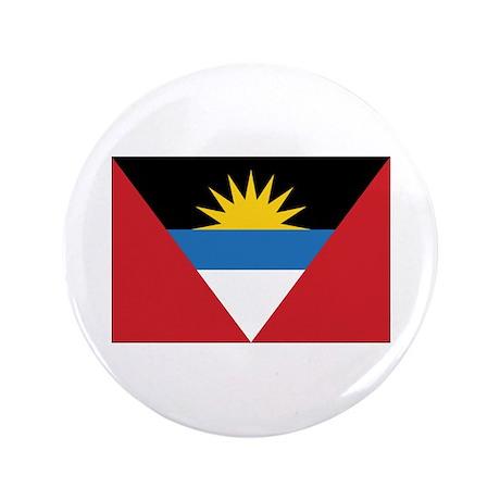 """Antigua Flag 3.5"""" Button"""
