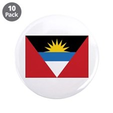 "Antigua Flag 3.5"" Button (10 pack)"